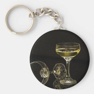 Chaveiro vidros do champanhe
