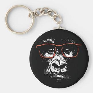 Chaveiro Vidros do vermelho do gorila