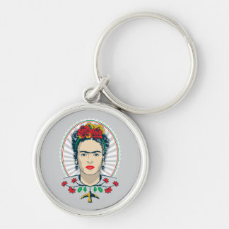 Chaveiro Vintage de Frida Kahlo | floral
