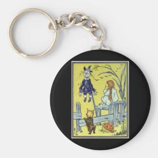 Chaveiro Vintage mágico de Oz, espantalho da reunião de