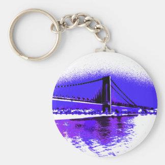 Chaveiro violeta da ponte de Verrazano