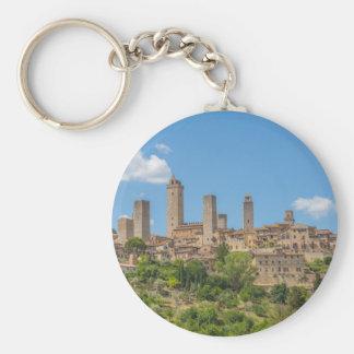 Chaveiro Vista panorâmica de San Gimignano Toscânia Italia