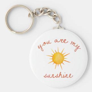 Chaveiro Você é minha arte das citações da luz do sol