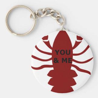 Chaveiro Você & eu são lagostas