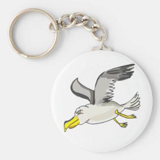 Chaveiro Vôo da gaivota dos desenhos animados aéreo