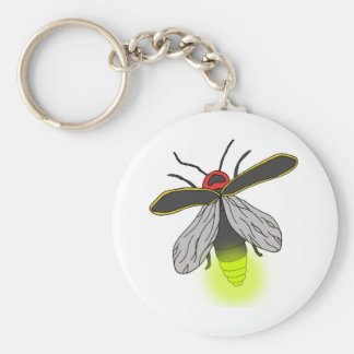 Chaveiro vôo do inseto de relâmpago iluminado
