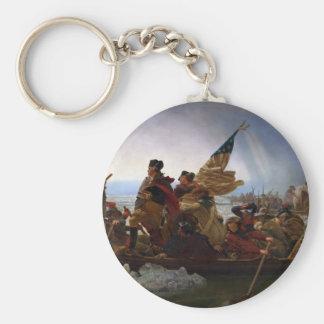 Chaveiro Washington que cruza arte do Delaware - E.U. do