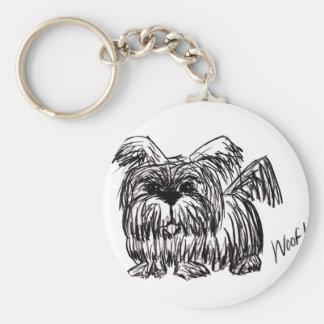 Chaveiro Woof um cão do espanador de poeira