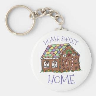 Chaveiro Xmas Home doce do Natal da casa da casa de