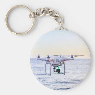 Chaveiro Zangão do vôo na costa acima do mar
