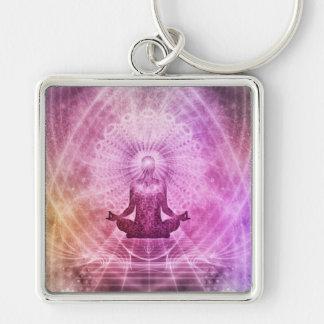 Chaveiro Zen espiritual da meditação da ioga colorido