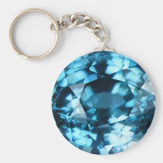 Chaveiro Zircão azul de cristal dezembro Birthstone de