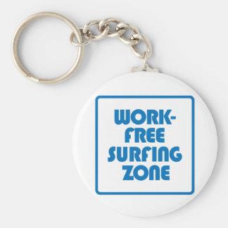 Chaveiro Zona surfando livre do trabalho