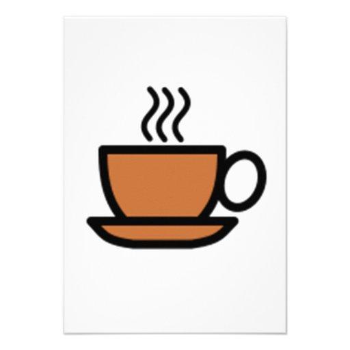 Chávena de café convites personalizados
