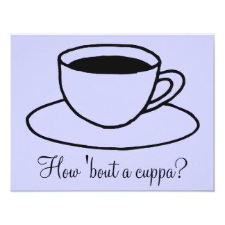 Chávena de café convite 10.79 x 13.97cm