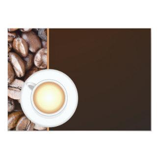 Chávena de café convite 12.7 x 17.78cm