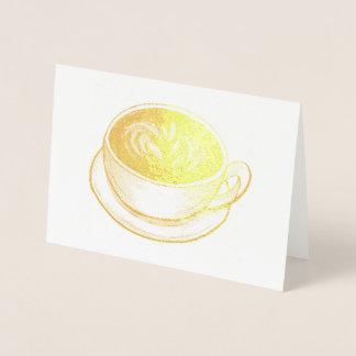 Chávena de café Foodie da cafetaria de Seattle Cartão Metalizado
