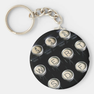 Chaves da máquina de escrever chaveiro