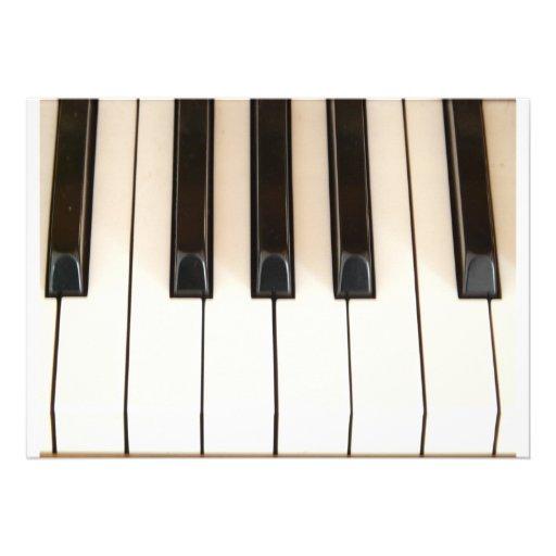 Chaves do piano convite personalizados
