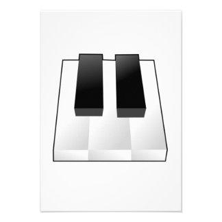Chaves do piano convites personalizados