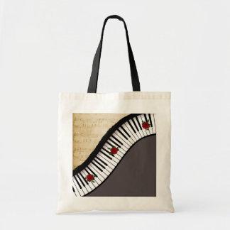 Chaves do piano do Bolsa de Buget, punho preto