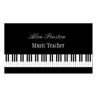 Chaves do piano do professor de música | cartão de visita