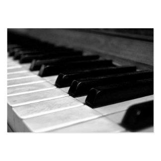 Chaves do piano do vintage; Preto e branco Modelo Cartões De Visitas