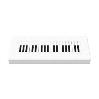 Chaves do piano na lona envolvida