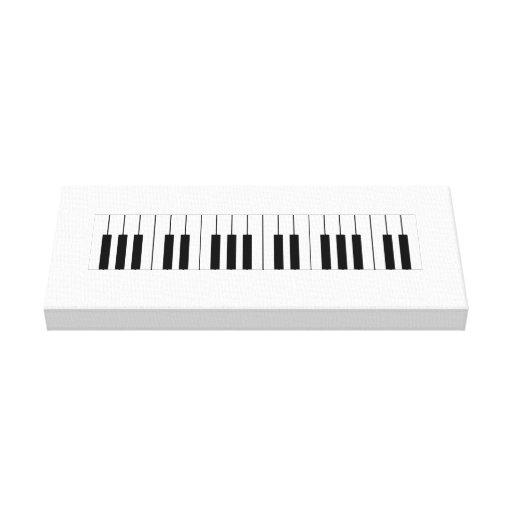 Chaves do piano na lona envolvida impressão de canvas envolvidas