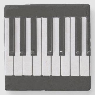 Chaves do piano porta-copos de pedra