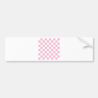 Checkered - branco e algodão doce adesivo para carro