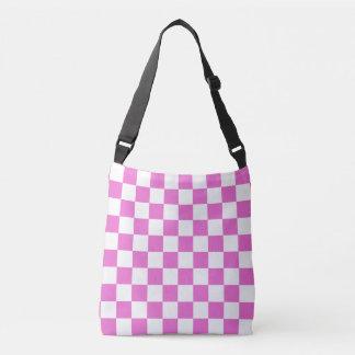 Checkered cor-de-rosa bolsa ajustável