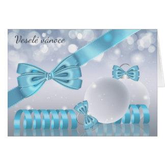 Checo - oranaments à moda do cartão do Natal