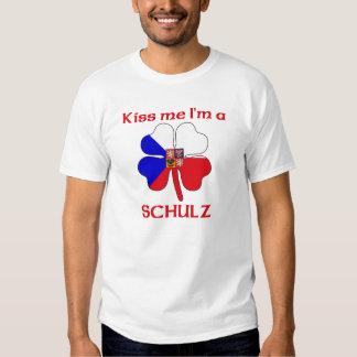 Checos personalizados beijam-me que eu sou Schulz T-shirts