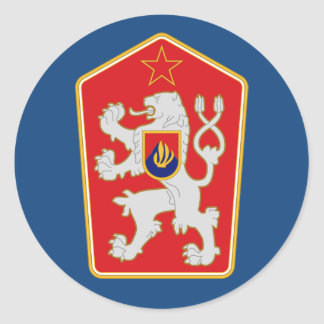 Checoslováquia - 1960-1990) etiquetas da brasão (