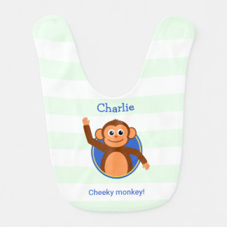 Cheeky monkey personalized striped
