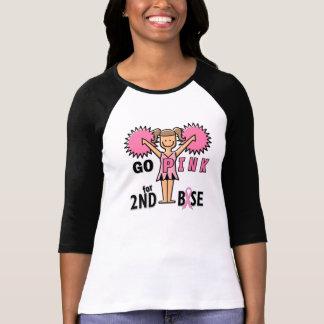 Cheerleader do cancro da mama camiseta