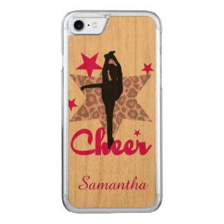 Cheerleader no rosa na cereja Iphone de madeira 6 Capa iPhone 7 Carved