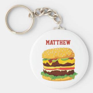 Cheeseburger dobro chaveiro personalizado