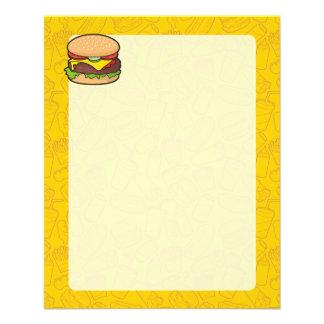 Cheeseburger Flyer 11.43 X 14.22cm