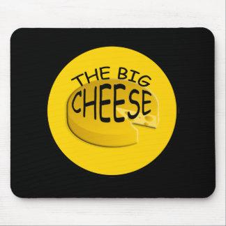 Chefe grande engraçado Mousepad do queijo