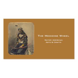 Chefe indiano de Lakota do nativo americano da Cartão De Visita