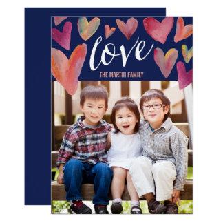 Cheio de cartões com fotos do dia dos namorados do convite 12.7 x 17.78cm