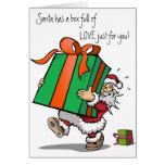 Cheio do cartão de Natal do amor