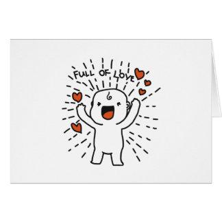 Cheio do cartão do dia dos namorados do amor