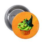 Cheio do cupcake do Dia das Bruxas de aranhas Bóton Redondo 5.08cm