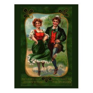 Cheio dos corações do cartão do vintage da alegria