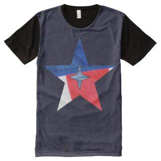 Cheio-Impressão da estrela do patriota Camisetas Com Impressão Frontal Completa