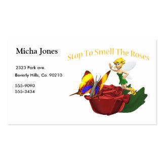 Cheire a borboleta & a fada de Roeses Cartão De Visita
