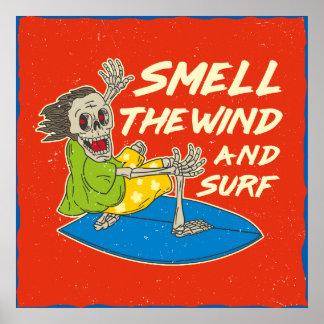 Cheire o vento e o surf Wallart Pôster